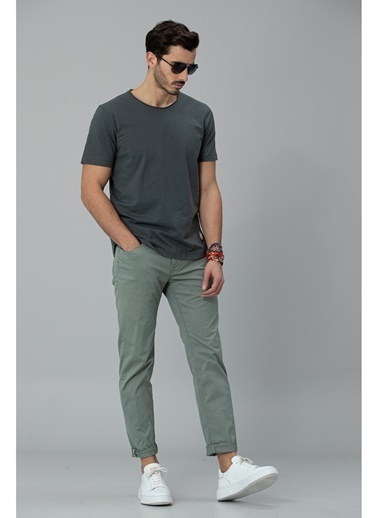 Lufian ımper Spor 5 Cep Pantolon Slim Fit  Yeşil